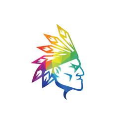 American apache indian logo vector