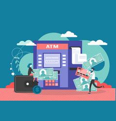 atm machine flat style design vector image