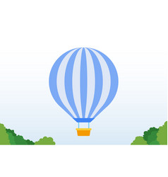 balloon in park icon flat isolated vector image