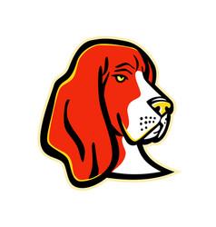 Basset hound dog mascot vector
