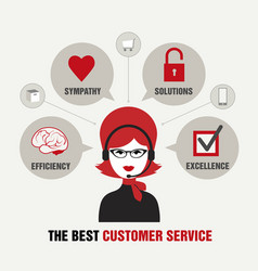 beautiful customer service vector image