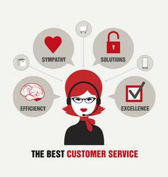 Beautiful customer service vector