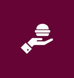 Burger icon simple vector