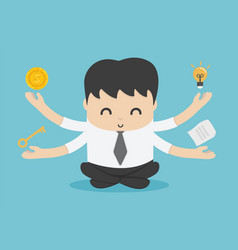 Business people meditation represents habits of vector