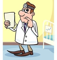 cartoon of doctor in hospital vector image