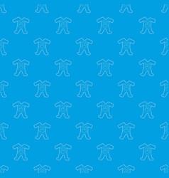 Children romper suit pattern seamless blue vector