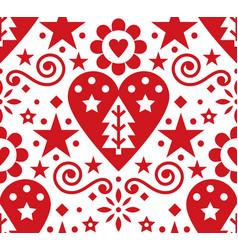 christmas scandinavian folk art seamless pa vector image