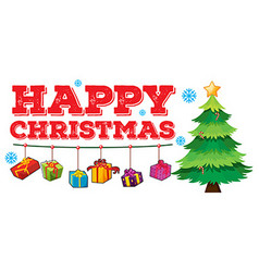 Christmas theme with tree and ornaments vector