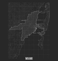City map miami elevation map town vector