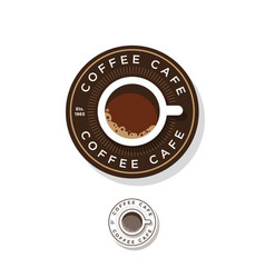 Coffee logo cup coffee circle vector