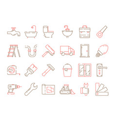 construction equipment icon building home repair vector image