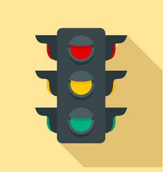 Crosswalk semaphore icon flat style vector
