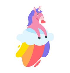 cute unicorn fairytale animal vector image