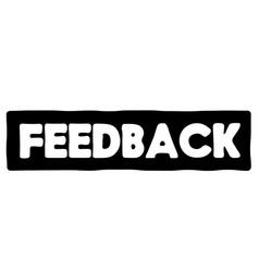 Feedback stamp typ vector