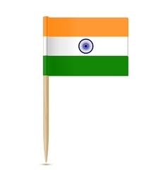 flag india toothpick vector image