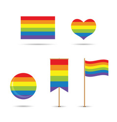 gay flags vector image