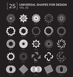 Geometric shapes logo vector