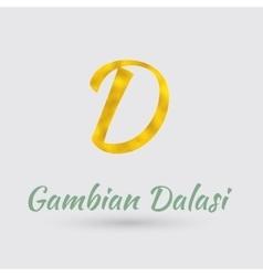 Golden Dalasi Symbol vector
