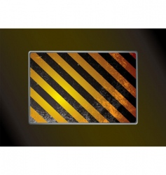 grunge warning background vector image