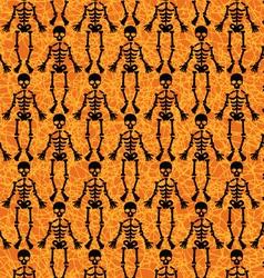 Halloween Skeleton Pattern vector