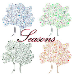 hand-drawn with seasons an for vector image
