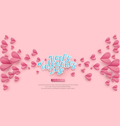 holiday background for valentines day pink vector image