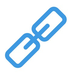 Hyperlink icon in blue style for any projects vector