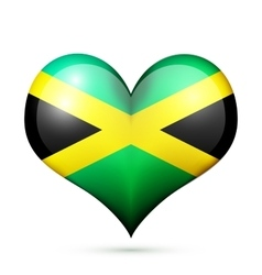 Jamaica Heart flag icon vector