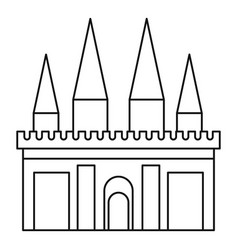 Kingdom palace icon outline style vector
