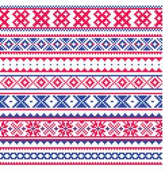 Lapland traditional folk art design sami vector