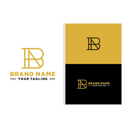 Letter b and a logo monogram line vector