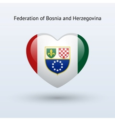 Love Federation of Bosnia and Herzegovina symbol vector image