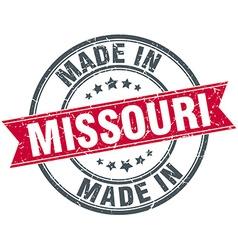 Made in Missouri red round vintage stamp vector