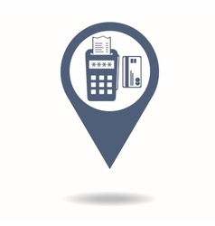 Map pointer pos terminal icon payments methods vector image