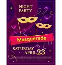 Masquerade poster vector