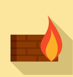 Modern firewall icon flat style vector