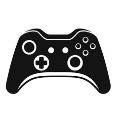 modern gamepad icon simple style vector image