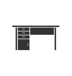 office desk icon flat vector image