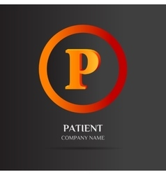 P Letter logo abstract design vector
