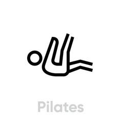 pilates sport icon vector image