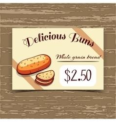 Price Tag Design Whole Grain Bread vector image