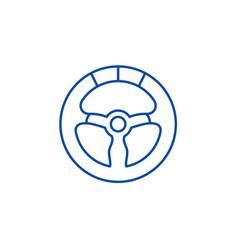 racing wheel line icon concept racing wheel flat vector image