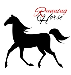 Seamless pattern with running horse vector image