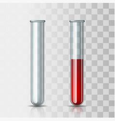 set scientific or medical glassware - empty vector image