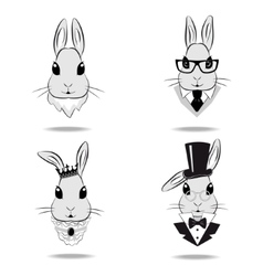 Set the head of the rabbit vector image