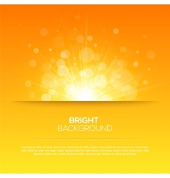 Shiny sun sunbeams sunrays bokeh vector image