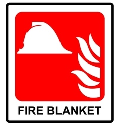 Signs of fire blanket sign vector