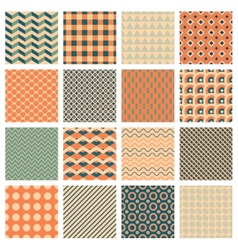 Simple geometric patterns vector