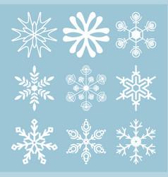 snowflake-03 vector image