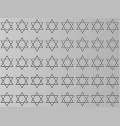 star of david on a gray background vector image